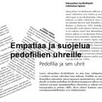 Empatiaa ja suojelua pedofiilien uhreille