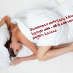 Kännykkä tyynyn alla 95 prosenttia kasvaneen peiton kanssa