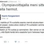 Olympiavoittaja Kaarlo Kangasniemi